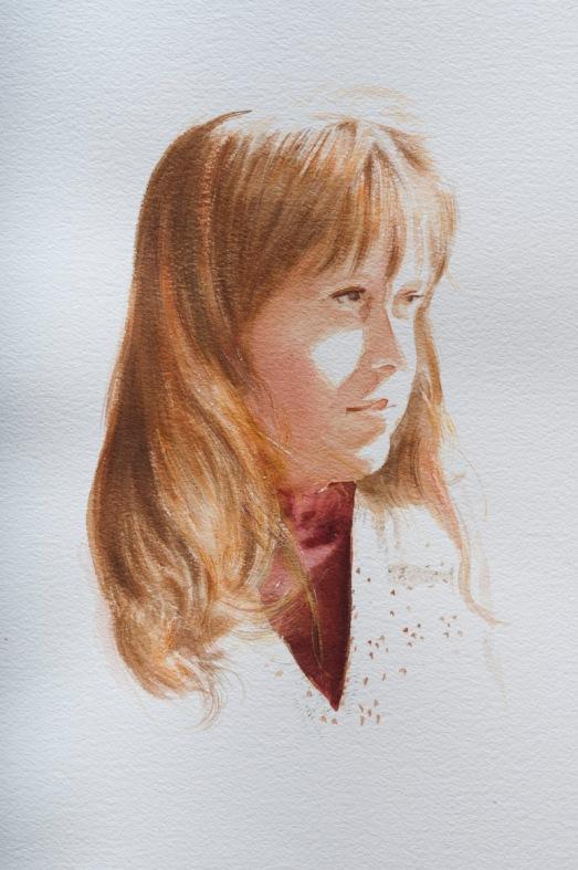 "watercolor 11"" x 15"" (27.94 x 38.10cm)"